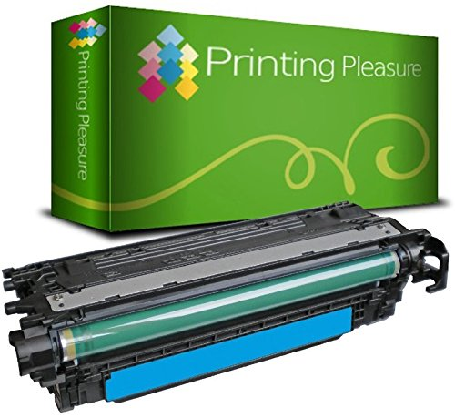 Printing Pleasure CE401A 507A Cyan Premium Toner kompatibel für HP Laserjet Enterprise 500 M551n, M551d, M551dn, M551xh, Color MFP M570dw, Color Flow MFP M575c, Color MFP M575dn, Color MFP M575f - Hp Color M551n-drucker Laserjet