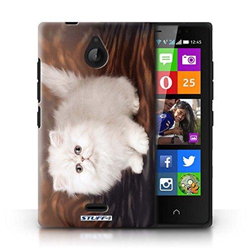 Kobalt® Imprimé Etui / Coque pour Nokia X2 Dual Sim / Jardin conception / Série Chatons mignons Blanc et moelleux