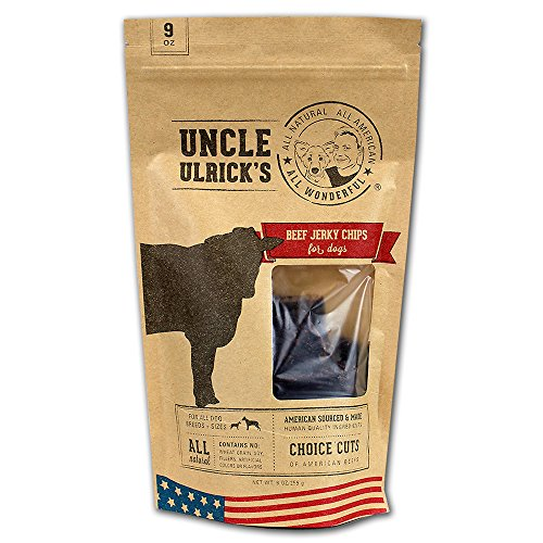 Uncle Ulrick's All Natural and All American Beef Jerky Chips for Dogs, 9 oz by Uncle Ulrick's -
