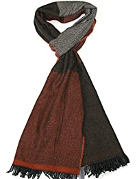 bbb4147ad39 Echarpe laine Homme Lovarzi – Echarpe rayures de luxe hiver pour hommes –  Made ...