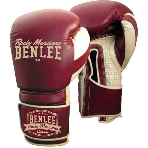 BENLEE Rocky Marciano Boxhandschuhe Graziano Weinrot, 14 - Boxhandschuhe Leder Vintage