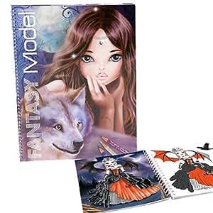 Album coloriage fantasy top model wolf jeux et - Album de coloriage top model ...
