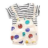 Babykleidung Neugeborene Set,Covermason Kleinkind-Baby Junge Mädchen Tops Punkt Streifen Brief T-Shirt + Gurt Kurz Outfits Set Bekleidungssets