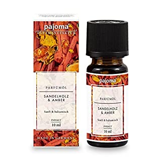 pajoma Parfümöl ''Sandelholz & Amber'', 10 ml, feinste Parfümöle in Geschenkverpackung