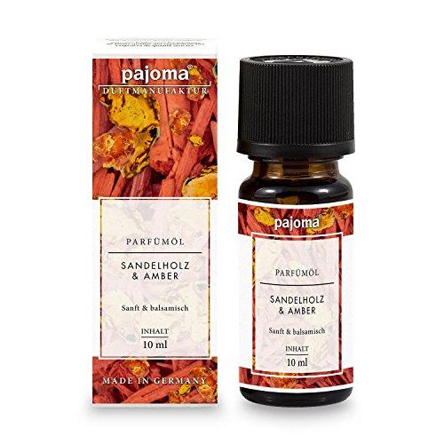 Amber-duft-Öl (pajoma Parfümöl ''Sandelholz & Amber'', 10 ml, feinste Parfümöle in Geschenkverpackung)
