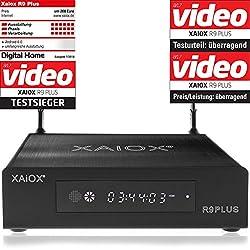 Xaiox R9 Plus - 4k Android Mediaplayer mit Display und Festplatten Schacht (HDMI, MKV, USB, LAN, WLAN) H.264 H.265 [BD ISO Menü]