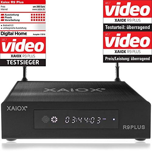 festplatte ohne strom Xaiox R9 Plus - 4k Android Mediaplayer mit Display und Festplatten Schacht (HDMI, MKV, USB, LAN, WLAN) H.264 H.265 [BD ISO Menü]