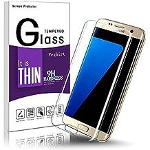 Protector de Pantalla Galaxy S7 Edge, 3D Curvado S7 Edge Anti-rotura de Pantalla Templado Protector, Vegbirt HD Cristal Templado Protector de Pantalla para Samsung Galaxy S7 Edge