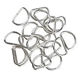 B Baosity 100 x D Ring rostfrei für Gürteln, Taschen, Rucksack - Weiß, 15x10x2mm