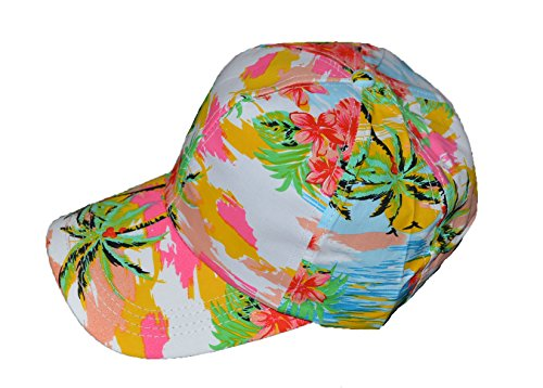 Cool-hawaiano-impresin-Base-Ball-Cap-blanco