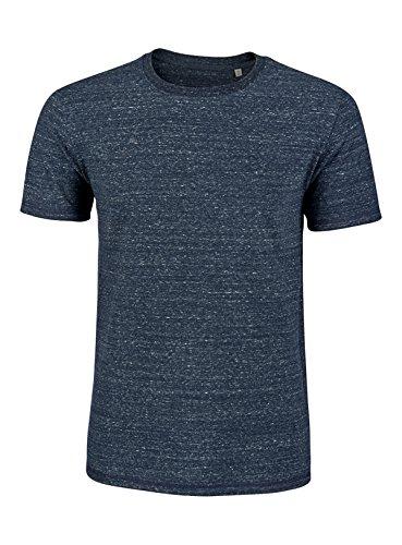YTWOO Schweres Herren Basic Premium T-Shirt Rundausschnitt (200g/m2) Bio-Baumwolle nachhaltige und Faire Mode Organic Cotton, Schweres Bio T Shirt, Bio Shirt, Biobaumwolle Dark Heather Demin