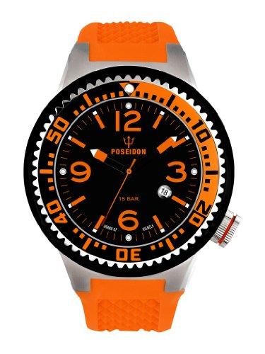 Kienzle K2011153083-00254 - Orologio da polso uomo, silicone, colore: arancio