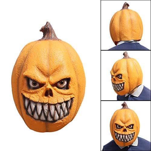 Dkings Halloween Kürbis Maske - Orange Stil Maske Schmelzen Gesicht Erwachsene Latex Kostüm Halloween beängstigend, ideale Maske für - Nicht Beängstigend Halloween Kostüm