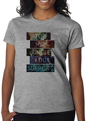 League of Legends All Roles Top Mid Bot Jungler Support Women' s Shirt Custom Made T-shirt (XL)