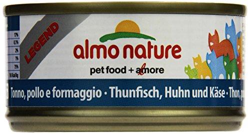 Almo Nature Legend Katzenfutter Thunfisch, Huhn und Käse 24 x 70 g