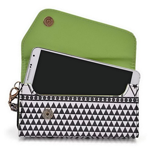 Kroo Pochette/Tribal Urban Style Coque pour Motorola Moto X Play Multicolore - White with Mint Blue Multicolore - Noir/blanc