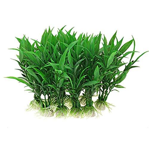 Skyllc® 10 stücke künstliche glück bambus unterwasser kunststoff pflanzen dekoration gefälschte wasser gras aquarium landschaften für aquarium -
