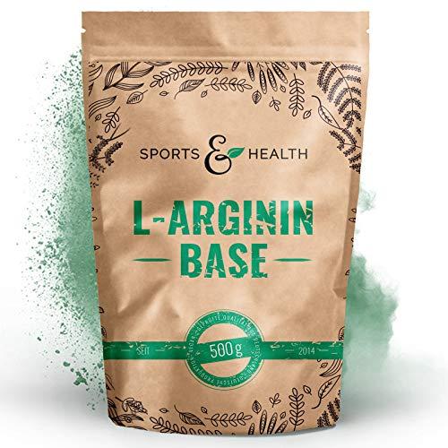 L Arginin Base Pulver - 500g Veganes Arginin Base Pulver 5g pro Tagesdosis - L-Arginin Ist Die Reinste Quelle Mit Höchster Bioverfügbarkeit Und Optimalen PH - Wert - L Arginin Made In Germany