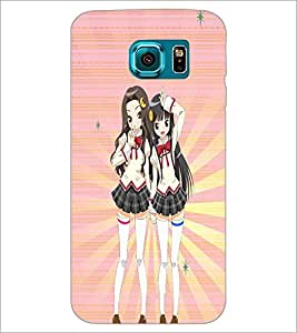 PrintDhaba Friends D-4482 Back Case Cover for SAMSUNG GALAXY S6 EDGE (Multi-Coloured)
