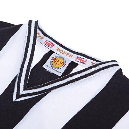 Toffs Newcastle United 1960s Retro Football Shirt  SMALL