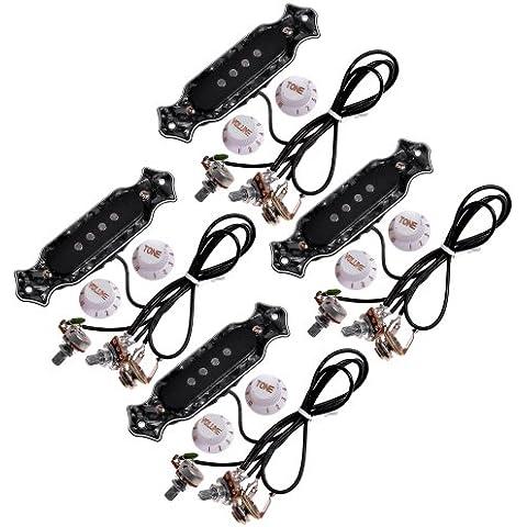 Kmise-Pickup a 4 corde, con pomelli, sigaro chitarra elettrica, magnete di ricambio, confezione da 4 pezzi - Sigaro Pomello