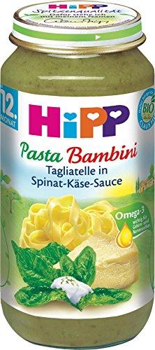 Bio Hipp Pasta Tagliatelle in Spinat Käse Sauce 250g Spinat-pasta-sauce