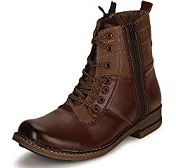 Escaro Mens Tan Synthetic Boot -8 Uk