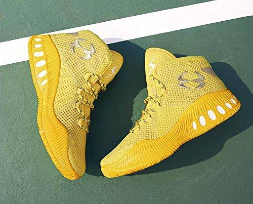 Uomini Allacciare Sneakers Di Pallacanestro Autunno Inverno Gioventù Formatori All'aperto Traspirante Scarpe Da Ginnastica Yellow