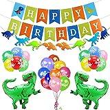 Kit de decoración de fiesta cumpleaños dinosaurio,feliz cumplea