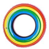 WINPOST Anello Gonfiabile Variopinto di Galleggiamento di Nuoto Dell'anello Gonfiabile della Boa Gonfiabile per Gli Adolescenti e Gli Adulti Giocattolo dell'Acqua 60-120CM di Estate (80CM)