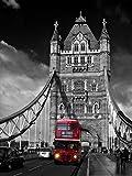 Postereck - 0121 - Roter Bus auf Tower Bridge, London -