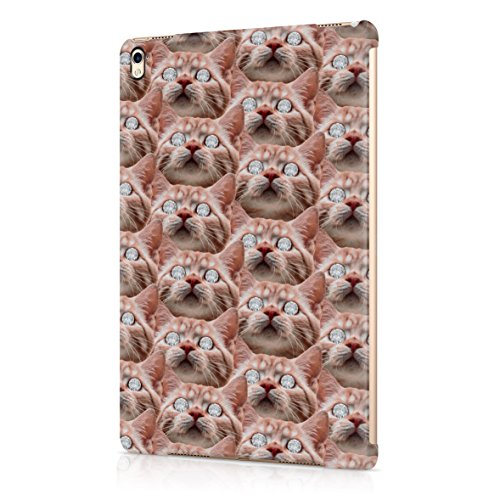 ginger-cat-diamond-eyes-dope-rich-high-life-plastic-snap-on-protective-case-cover-for-ipad-pro-97