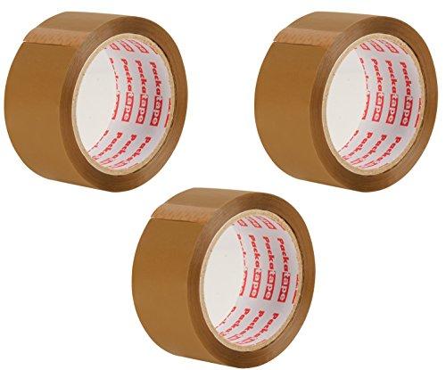 packatape 3Rollen 48mm x 66m Klebeband Verpackung für Pakete und Boxen. Diese 3Rolle schwere Packband bietet ein Stück stark, sicher und Sticky Dichtung für Ihr Boxen, braun