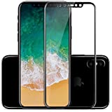 Rexez 5D Round Curved Edge Front And Back Tempered Glass Screen Protector For IPhone X (Black)