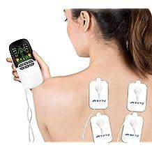 Elettrostimolatore Muscolare, iFanze Elettrostimolator Tens, Multifunzione Digitale Doppio Porta Massaggiatore di Tensione Unità, per il Trattamento del Dolore per Schiena, Collo, Spalle, Gambe e Nervo Sciatico