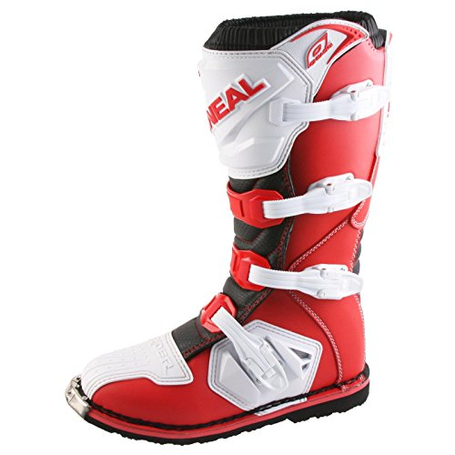 O'Neal Rider Boot MX Cross Stiefel Rot Weiß Motorrad Enduro Motocross Offroad, 0329-8, Größe 47