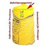 SackTonne BS Gelben Sack mit Deckel (mit Gummiband)