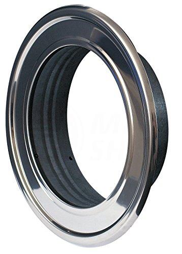 Edelstahl Flexrohr (Wandrosette Edelstahl Ø 120 mm Thermoflex ALU Flexrohr Wand Rosette Metall Flansch Abluft Zuluft Flexschlauch Lüftung Rohr Schlauch)