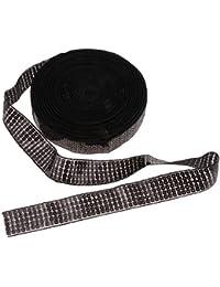 non-brand Sharplace 20yds Rollo de Cinta con Lentejuelas Apliques De Boda Ornamento de Vestido