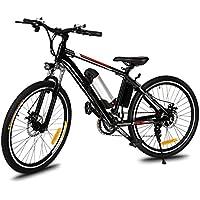 """Befied Vélo de Montagne Électrique 12 Vitesse 26 """" E-Bike VTT en Alliage d'aluminium Cadre, Chargeur Premium Suspendu, 36V 250W Moteur, 36V Batterie Lithium-ion"""