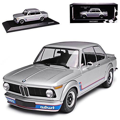 Unbekannt B-M-W 2002 Turbo Silber 1973-1974 1/18 Minichamps Modell Auto mit individiuellem Wunschkennzeichen (2002 Bmw Modellauto)