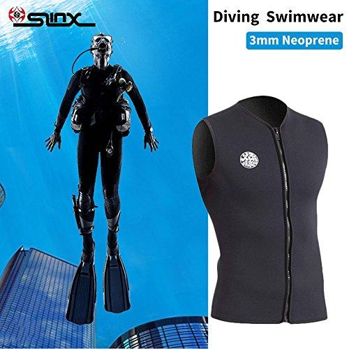 3MM Ärmellose Tauchweste Schwimmweste Neoprenanzug Warm Fleece Gefüttert für Männer und Frauen (John Neoprenanzug)