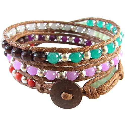 lun-na-asiatique-bracelet-wrap-fait-main-100-perles-en-bois-rhodium-quartz-howlite-pierre-couleur-ro