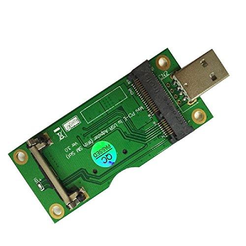 Mini PCI-E auf USB Adapter mit SIM-Kartenslot für WWAN/LTE-Modul Sim-usb