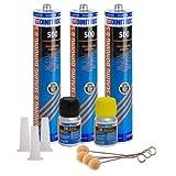 3X Dinitrol 500pare-brise kit de fixation Liaison Colle Mastic Verre OEM