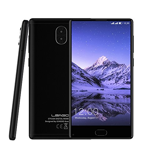 Leagoo KIICAA MIX - Entirely Screen, 5.5 Inch 4G FDD-LTE Smartphone, Android 7.0 Octa Core 3GB+32GB, MTK6750T, Triple Cameras 13.0MP+2.0MP w/ 13.0MP, Front Fingerprint ID, Dual SIM, SIM-Free Unlocked Full Screen Mobile Phone
