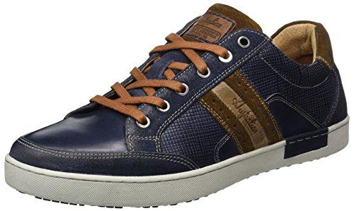 Australian lombardo Leather, Baskets Homme Mehrfarbig (Blue-Tan-Grey)