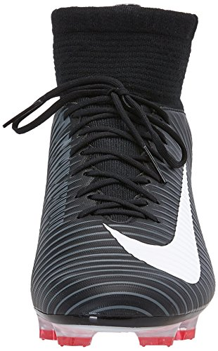 Nike Mercurial Veloce III DF FG, Chaussures de Foot Homme Noir (Black/white/dk Grey/univ Red)