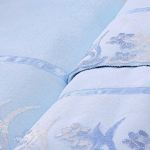 DANCICI Badetuch Dicke Spitze Stickerei erwachsene Paare mit Brust Badetuch weich Saugstark Fusselfrei intensivieren nicht verblasst dann Handtücher Stickerei 140 * 70 cm, Weiß blau