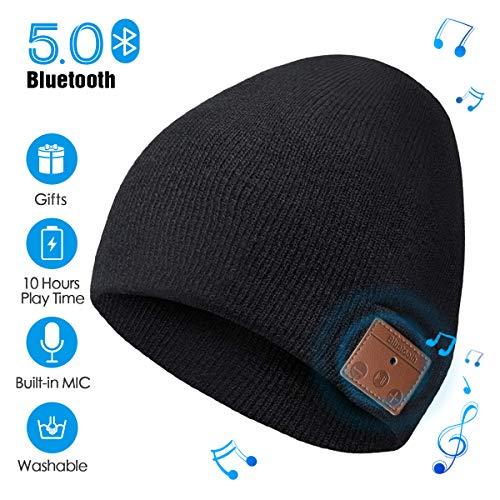 ZRUHIG Bluetooth Beanie Mütze mit Kopfhörern Bluetooth Musik Hut Wireless Mütze Ausgestattet mit Bluetooth 5.0 Superior für Herren&Frauen Sport, Weihnachten Geschenk, Geburtstags Geschenk